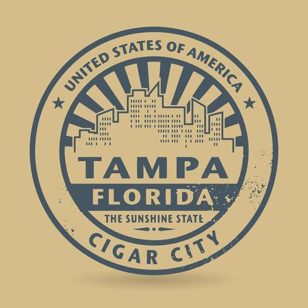 Grunge rubber stamp with name of Tampa, Florida, vector illustration Vector