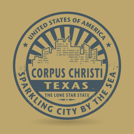 corpus: Grunge rubber stamp with name of Corpus Christi, Texas, vector illustration