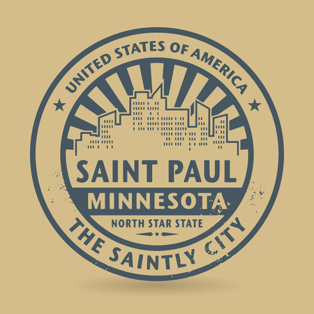 Grunge rubber stamp with name of Saint Paul, Minnesota, vector illustration Vector