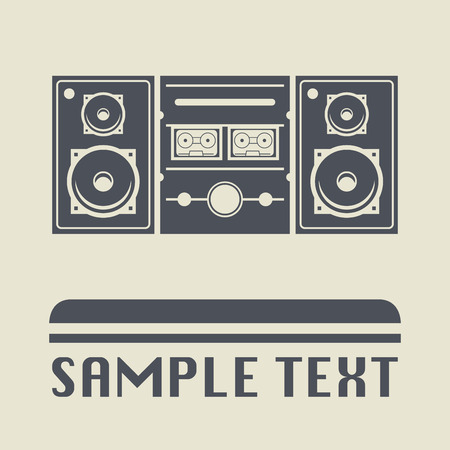 cd recorder: Cassette player icon or sign, vector illustration