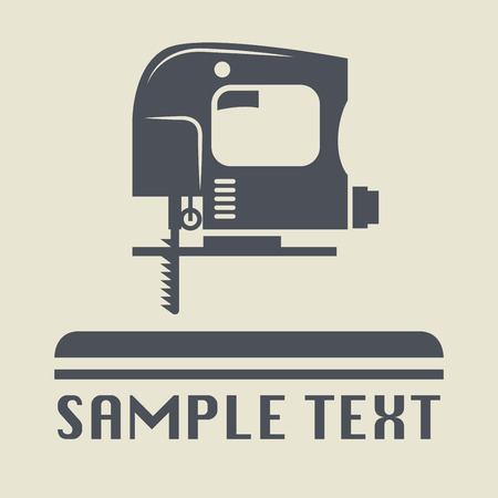jig saw: Jig Saw tool icon or sign, vector illustration