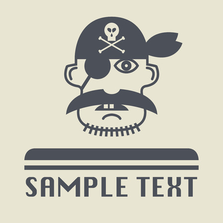 sea robber: Pirate icon or sign, vector illustration Illustration