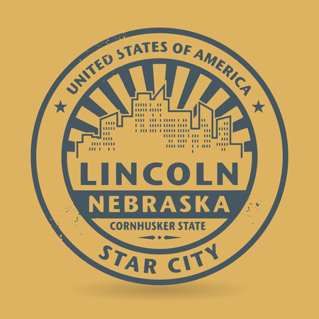 lincoln: Grunge rubber stamp with name of Lincoln, Nebraska, vector illustration Illustration