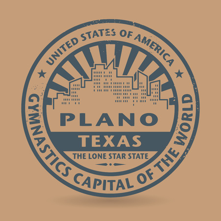 plano: Grunge rubber stamp with name of Plano, Texas, vector illustration