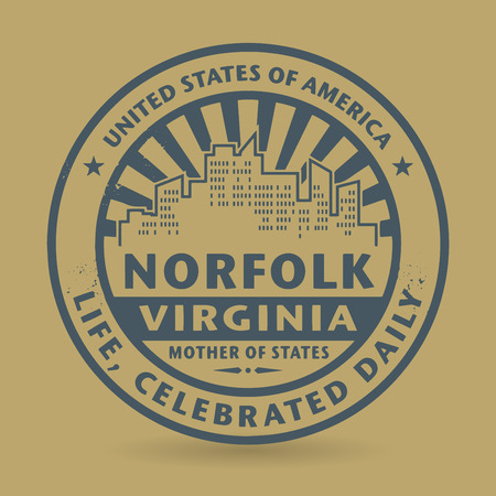 Grunge rubber stamp with name of Norfolk, Virginia, vector illustration Vector