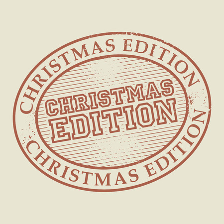 edition: Abstract stamp or label with the text Christmas Edition written inside, vector illustration Illustration