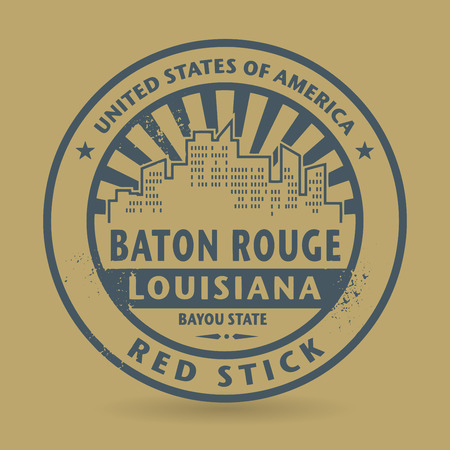 baton rouge: Grunge rubber stamp with name of Baton Rouge, Louisiana, vector illustration
