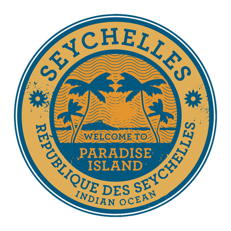 seychelles: Stamp or label with the name of Seychelles Islands, vector illustration Illustration