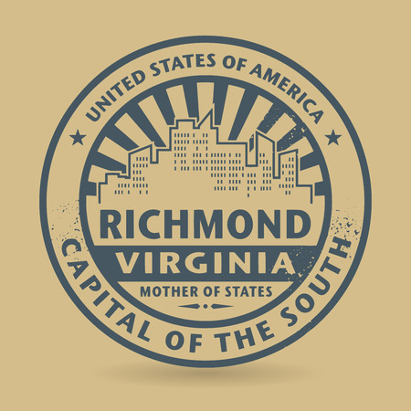 virginia: Grunge rubber stamp with name of Richmond, Virginia, vector illustration