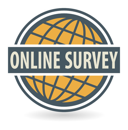 online survey: Abstract stamp or label with the text Online Survey written inside, vector illustration