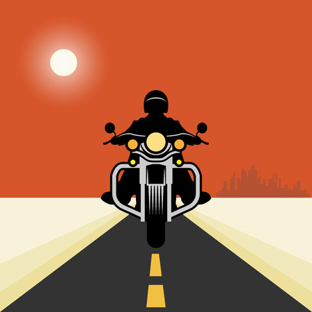 cycle ride: Vintage Motorcycle poster, vector illustration