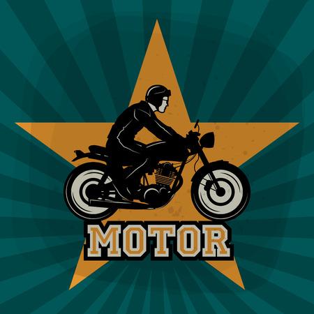 vintage power: Vintage Motorcycle poster, vector illustration