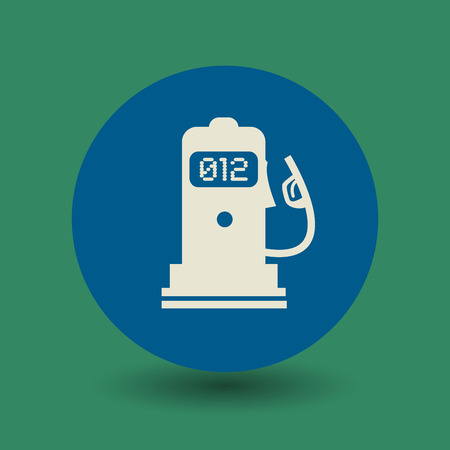 liter: Gas station icon or sign, vector illustration Illustration