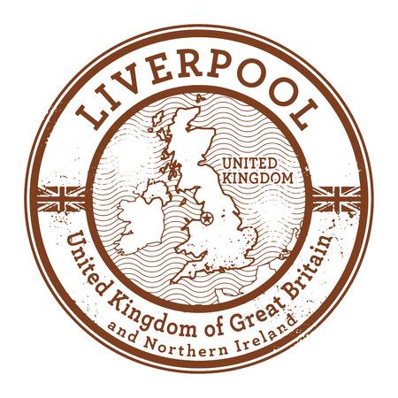 liverpool: Grunge rubber stamp with words United Kingdom, Liverpool inside, vector illustration