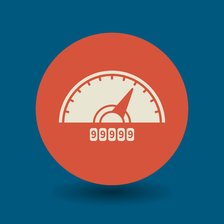 rpm: Car instruments icon or sign, vector illustration