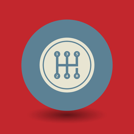 gearshift: Gearshift icon or sign, vector illustration