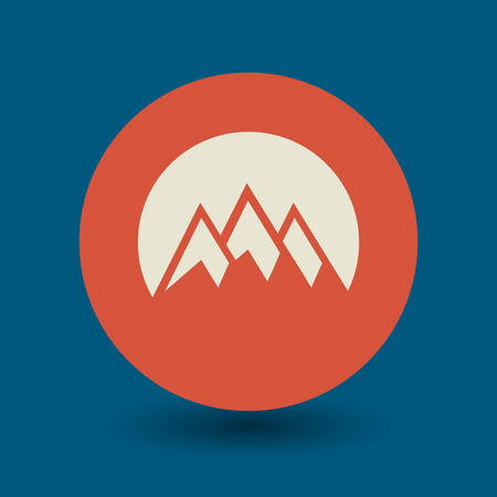 mountain holidays: Mountain icon or sign, vector illustration Illustration