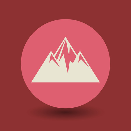 natural ice pastime: Mountain icon or sign, vector illustration Illustration