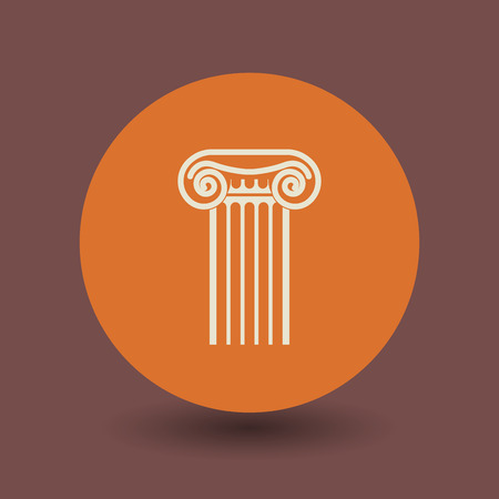 mediterranean homes: Antique architecture icon or sign, vector illustration
