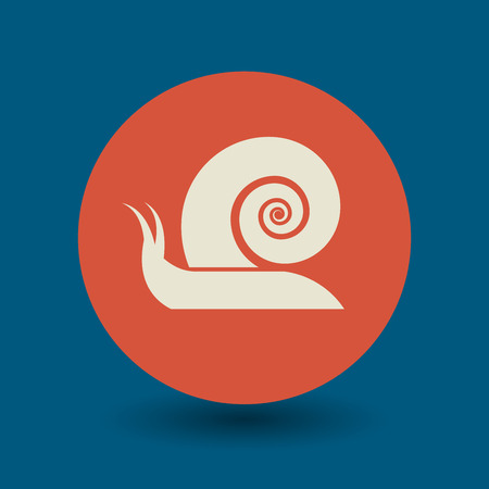 gastropod: Snail icon or sign, vector illustration Illustration