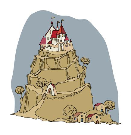 Cartoon color castle