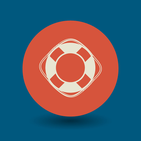 life preserver: Lifebuoy icon or sign, vector illustration