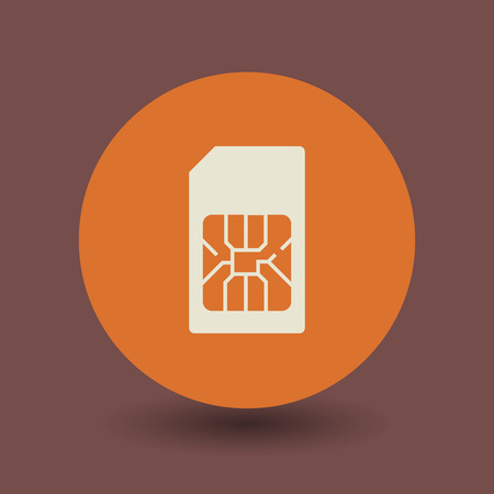 cellphone icon: Sim Card icon or sign, vector illustration