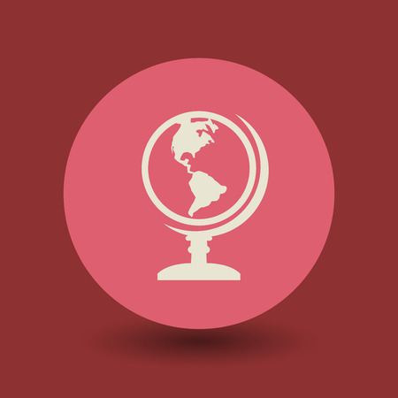 Earth globe icon or sign, vector illustration Vector