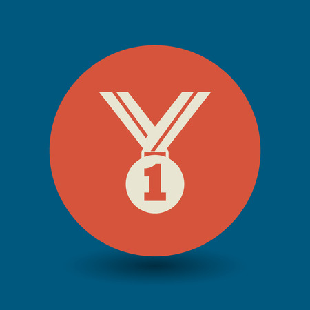 Medal icon or sign, vector illustration Ilustrace