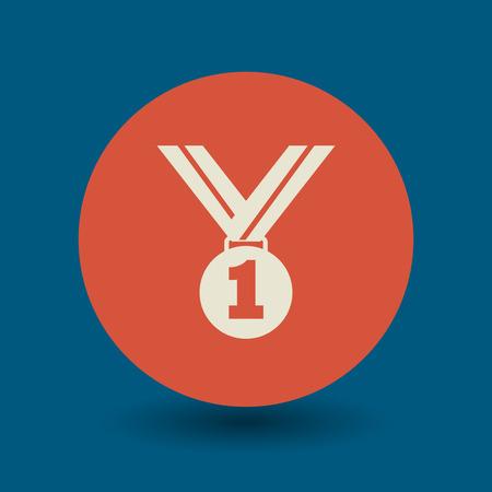 Medal icon or sign, vector illustration Illustration