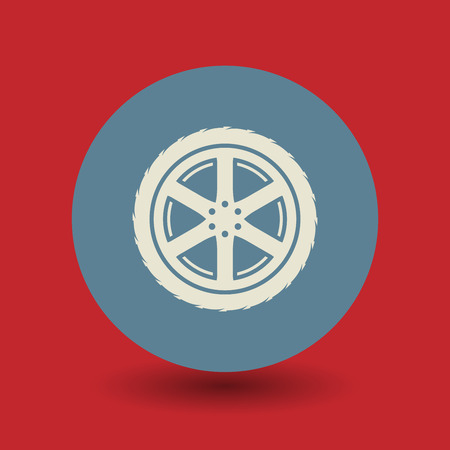 haltbarkeit: Auto-Rad-Symbol oder Zeichen, Vektor-Illustration Illustration