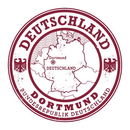 deutschland: Grunge rubber stamp with words Deutschland, Dortmund inside, vector illustration