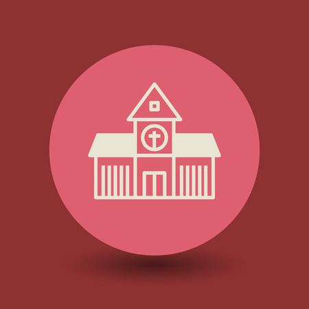 sanctuaries: Church icon or sign, vector illustration