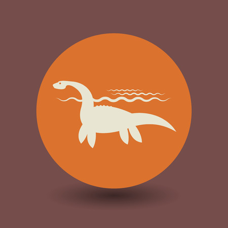 Dinosaur icon or sign, vector illustration Vector