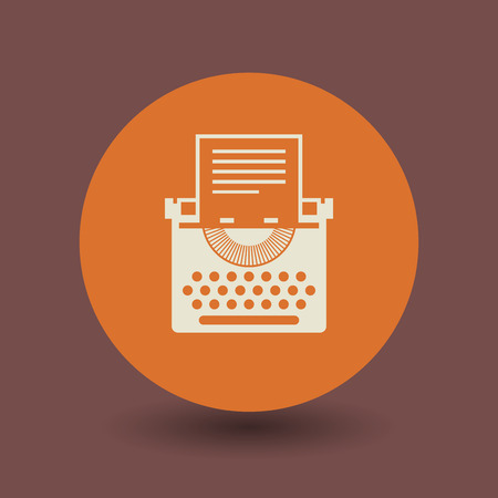 scriptwriter: Typewriter icon or sign, vector illustration Illustration