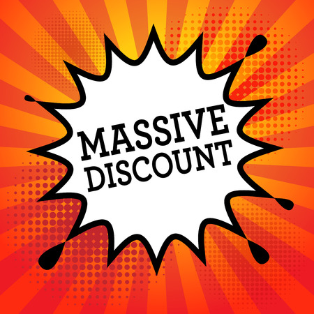 massive: Comic book explosion with text Massive Discount, vector illustration Illustration