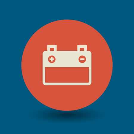 button batteries: Car battery icon or sign, vector illustration Illustration
