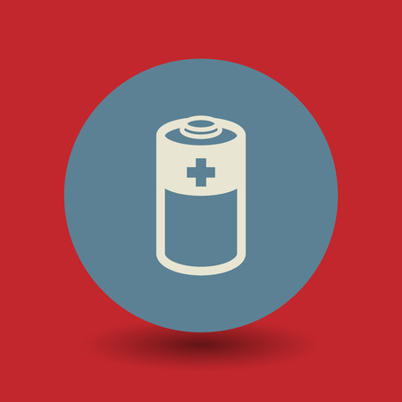 button batteries: Battery icon or sign, vector illustration Illustration