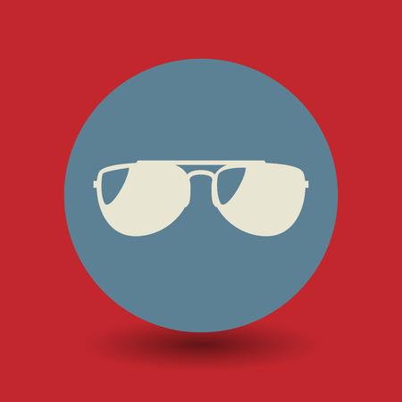 aviators: Sunglasses icon or sign, vector illustration