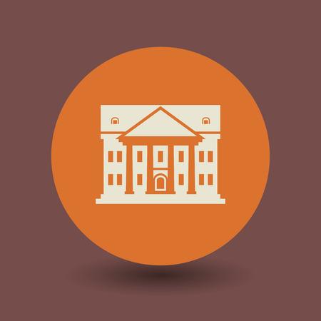 governmental: Arquitectura icono o signo, ilustraci�n vectorial