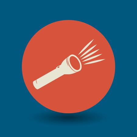 handheld device: Flashlight icon or sign, vector illustration
