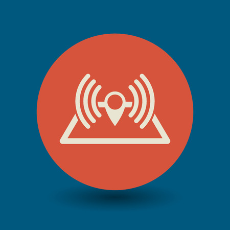 airwaves: Navigation radar icon or sign, vector illustration