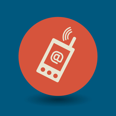 mobil phone: Mobile phone icon or sign, vector illustration Illustration