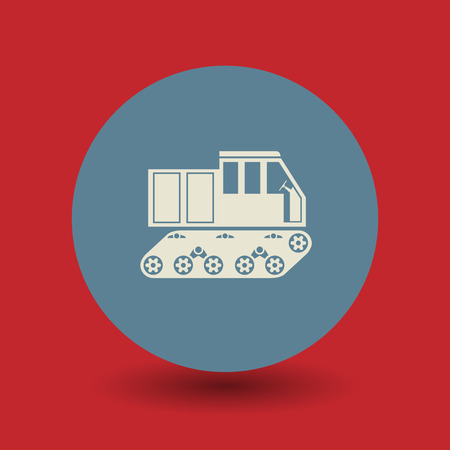 transport icon: Crawler transport icon or sign, vector illustration Illustration