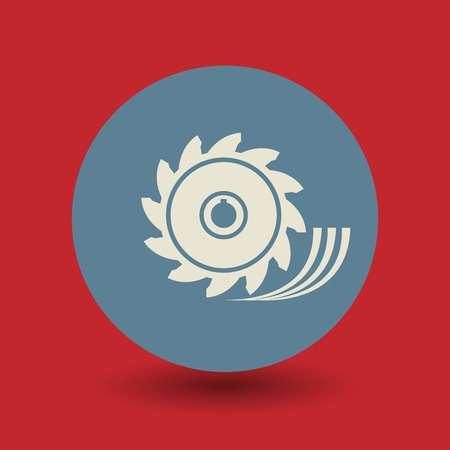 build buzz: Saw wheel icon or sign, vector illustration