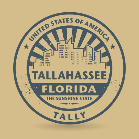Grunge rubber stamp with name of Tallahassee, Florida, vector illustration Vector