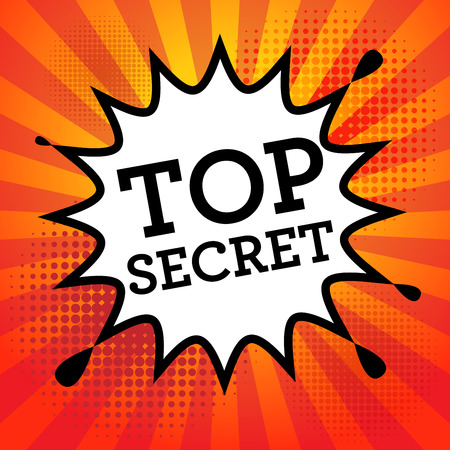 Comic book explosion with text Top Secret, vector illustration