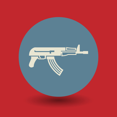 automatic: Automatic rifle icon or sign Illustration
