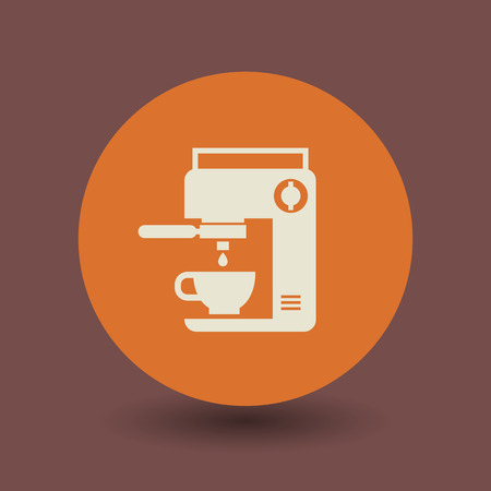 coffee machine: Coffee machine icon or sign Illustration