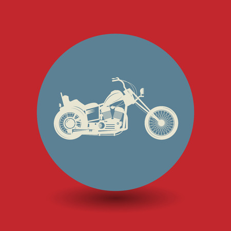 motorsports: Motorcycle icon or sign